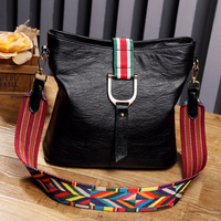 New Fashion Handbags 2017 Bag Women S Vintage Shoulder Bags PU Leather Ethnic Embroidered Colorful Wide