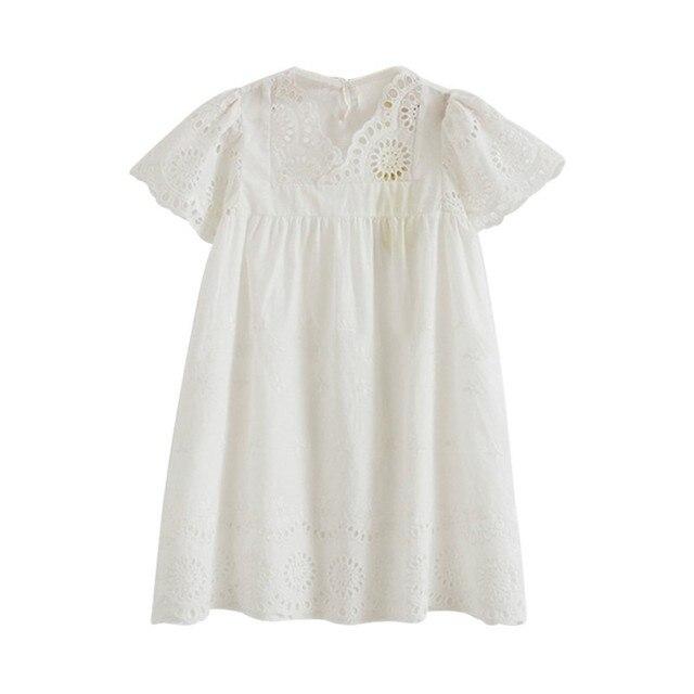 brand new ae128 8f01f Babykleid Marke Sommer Princes StyleHollow Heraus Party Geburtstag Kleider  Für Mädchen Vintage Kleinkind Mädchen Kleidung 2-7Yrs
