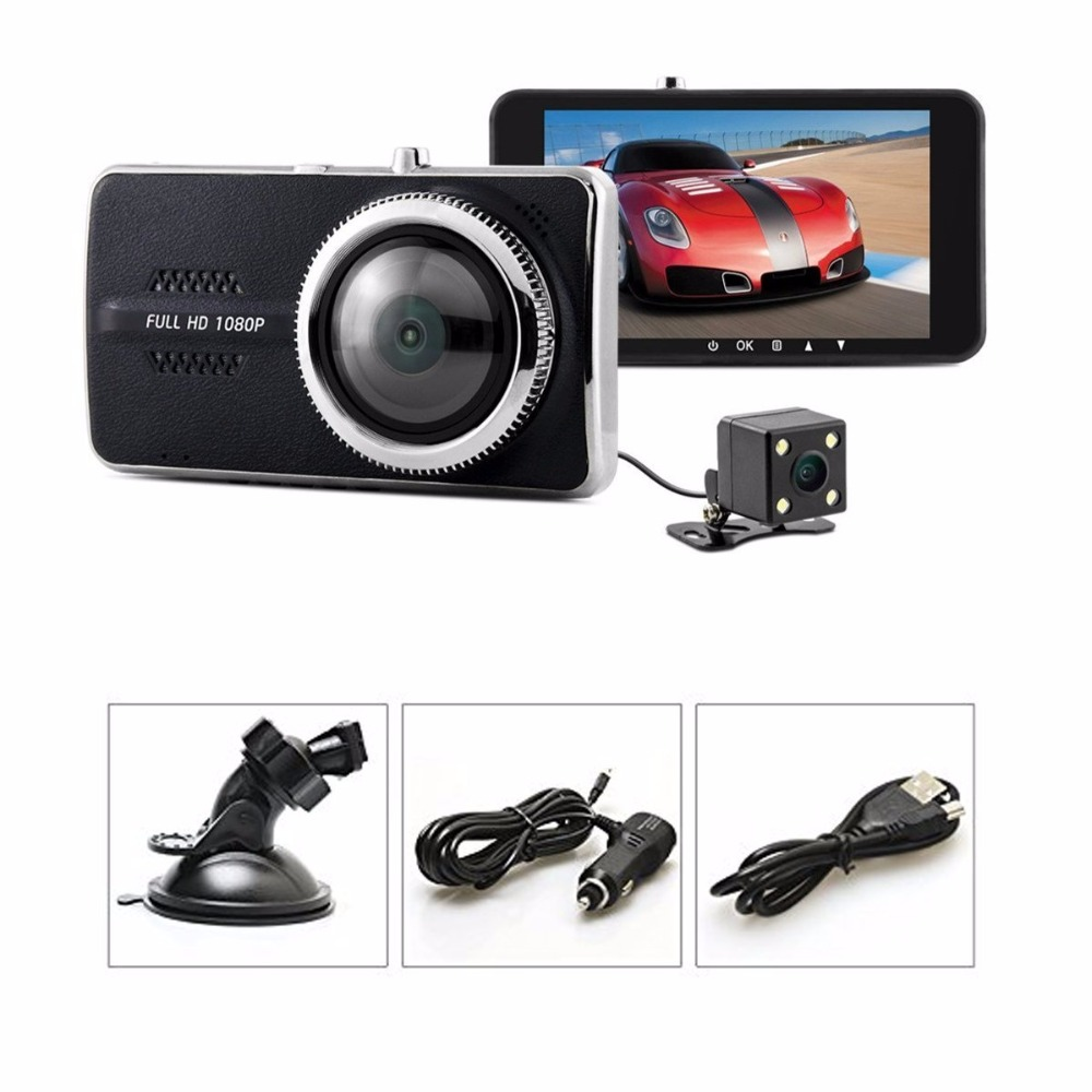 Fumalon 4.0 Dash Cam,FHD 1080P,170 Front120 Rear Wide Angle DVR Dashboard Camera Recorder with G-Sensor,WDR,Loop Recording plusobd car recorder rearview mirror camera hd dvr for bmw x1 e90 e91 e87 e84 car black box 1080p with g sensor loop recording