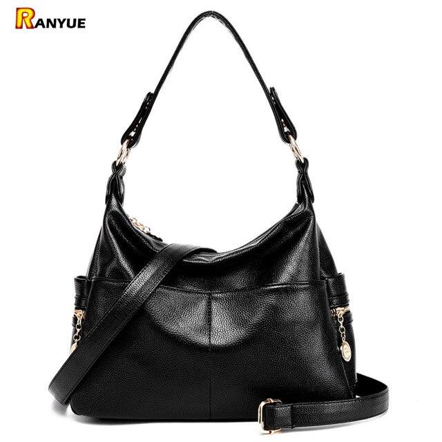 2017 Double Zipper Women Shoulder Bags Hobos De Las Moda Bolso Pu Leather Woman