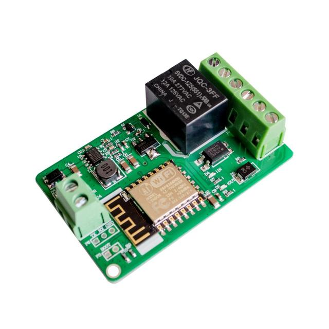 ESP8266 Relay Module 10A 220V Network Relay WIFI Module Input DC 7V~30V 4 Layers Board TVS Input Automatic Protection