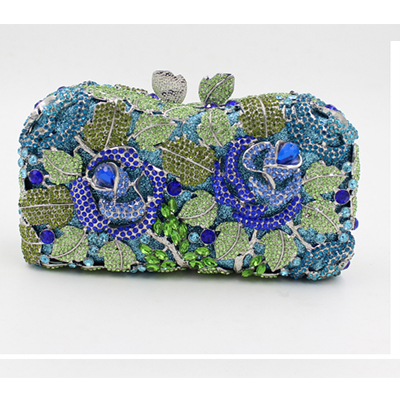 Fashion Female Crystal Day Clutches women blue Banquet pack bags Business clutch evening bags Christmas gifts for woman purse ferrino o hare day pack