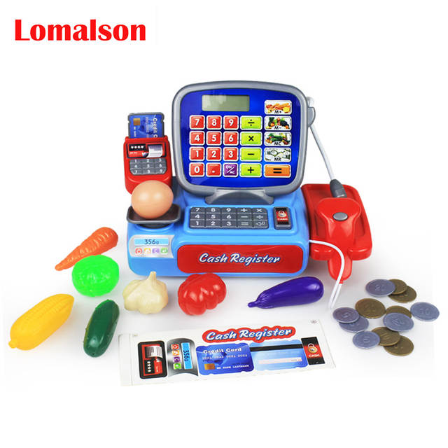 Placeholder Mini Ping Grocer Supermarket Cash Register Toy Simulation Furniture Checkout Pretend Play House
