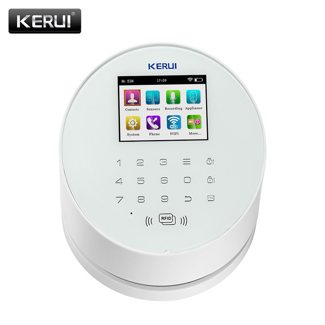KERUI W2  Wifi GSM Wireless alarm Panel IOS andorid APP PSTN line telephone RFID Disalarm Security Alarm 1