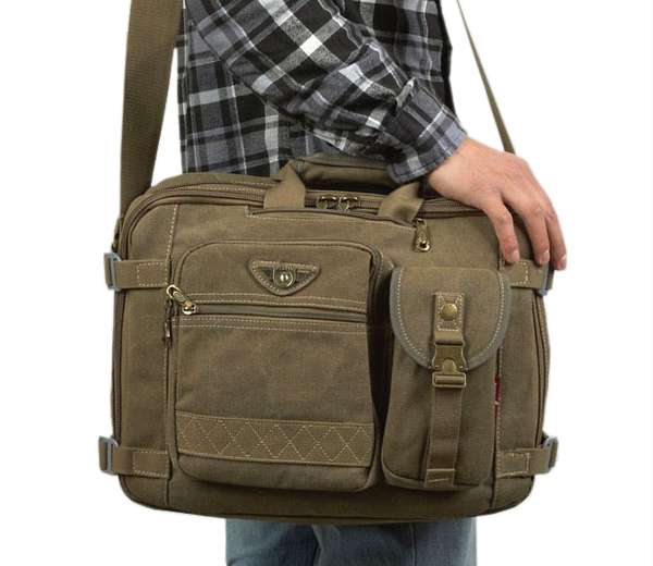 Brand Designer Canvas 14 Laptop Mochila Backpack For Men Tactical Mens Tote Shoulder Messenger Computer Bags A214 Free Shipping In Cases From
