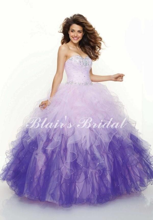 Popular White Purple Prom Dress-Buy Cheap White Purple Prom Dress ...