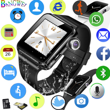SmartWatch Men Casual Fashion Silicone Strap Smart Watch Women Sports Pedometer LED Stopwatch Support SIM Call Wearable tech