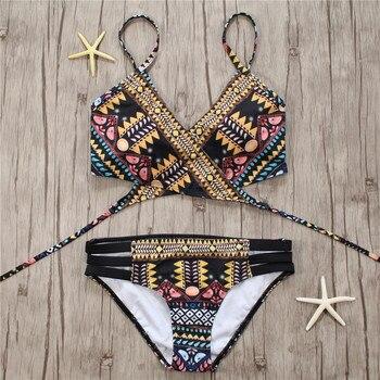 Μαγιό Γυναικεία Μπικίνι Βραζιλίας Aztec Biquini Beachwear 2020 Γυναικεία Μαγιό Ρούχα MSOW