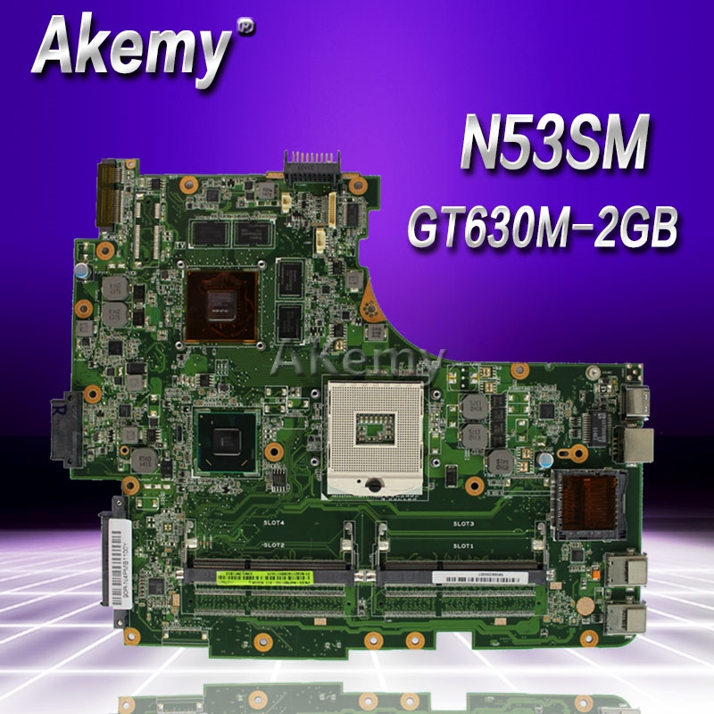 Akemy N53SV Laptop motherboard for ASUS N53SV N53SN N53SM N53S N53 Test original mainboard GT630M-2GBAkemy N53SV Laptop motherboard for ASUS N53SV N53SN N53SM N53S N53 Test original mainboard GT630M-2GB