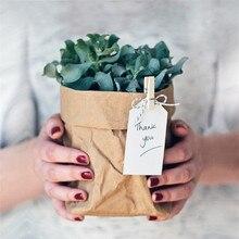 Экологически чистая крафт-бумага, водонепроницаемый цветочный горшок, цветочный горшок для хранения, настольная корзина для хранения, коробка для хранения мелочей, шкаф