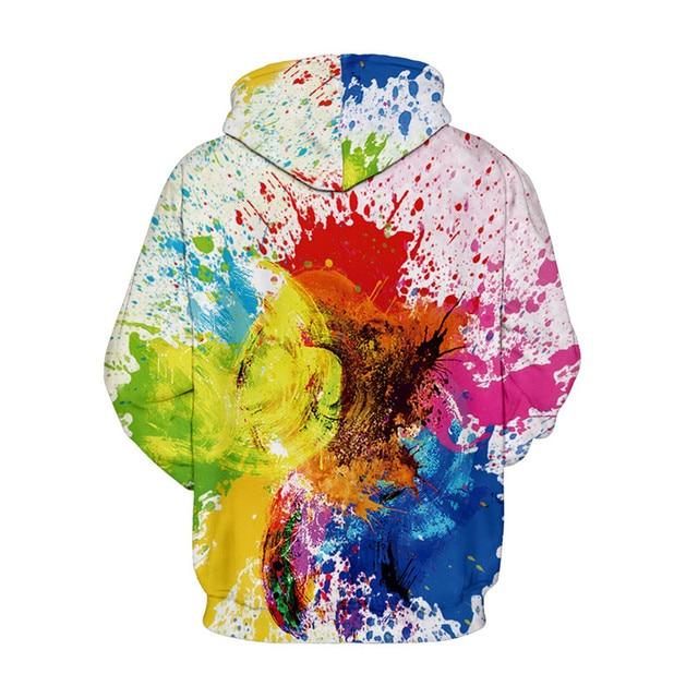 3D Graffiti Hoodies Men Women Colorful Splash Ink Print Hoodie Sweatshirt Men Harajuku Hip Hop Streetwear Hoody Sweat Homme