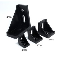 10pcs 4040 Corner Angle L Brackets Connector Fasten Fitting Long Hole for 4040 Aluminum Profile