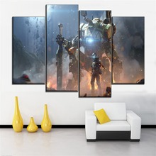 Canvas HD Prints Posters Home Decorative Living Room Wall Art 4 Pieces Video Game Titanfall 2 Pictures Framework Or Frameless titanfall 2