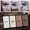 4 Rosto Cor de Sombreamento Em Pó Contorno Bronzer Highlighter Palette Set Grooming Aparar Pó Maquiagem Contorno Do Rosto Pressionado Pó