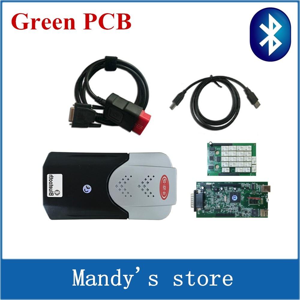 Prix pour Vert PCB Nouveau vci vd tcs cdp avec Bluetooth VD TCS CDP pro Voitures Camions de diagnostic outils nouveau logiciel comme mvd multidiag pro +