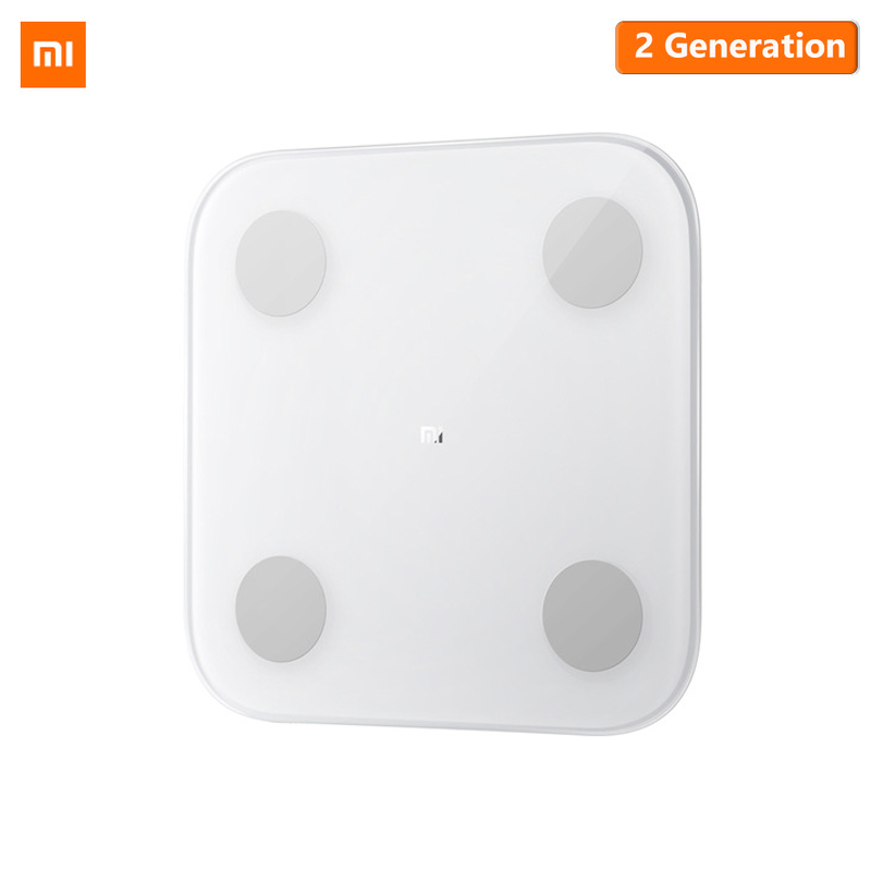 Original Xiaomi Smart Body Fat Composition Scale 2 Bluetooth 5.0 Balance Test 13 Body Date BMI Health Weight Scale LED Display(China)