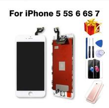 Pantalla LCD completa o pantalla completa para iphone 5 5G 5S 5C o para iphone 6 6s sin hogar botón y cámara frontal
