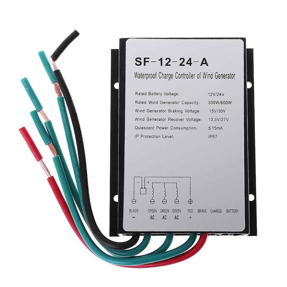 600 Вт 12 В/24 В водонепроницаемый ветрогенератор контроллер заряда контроллер ветрогенератора