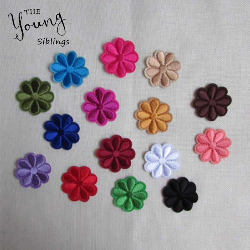 brand new flower patch hot melt adhesive applique embroidery patches stripes DIY clothing accessory 1pcs sell C217-C231
