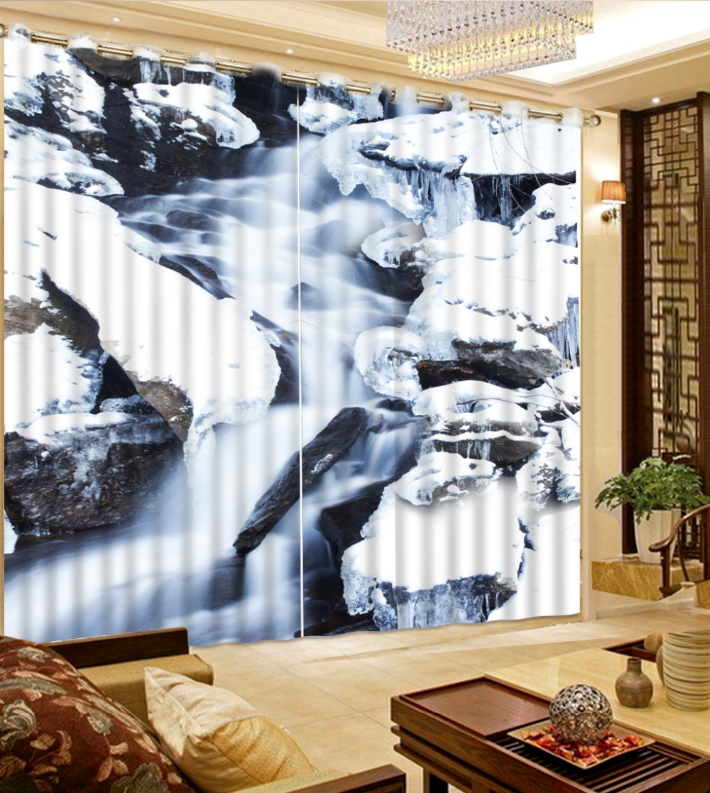Custom Home Interiors: Custom Curtains Modern Home Decor Mountains And Rivers