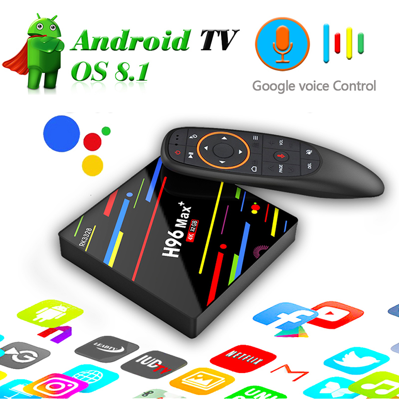 h96 PLUS TV Box RK3328 Android 8.1 4G ROM 32G 4G 64G Set-top Box Voice Control USB 3.0 4K EMMC Smart Quad-Core 64bit Family box h96 max android tv box 4g 32g or 64g or voice control rk3328 4k box 2 4g 5g wifi android 8 1 box set top box h96 max plus