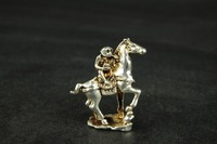Details about Chinese handmade white brass monkeys and horses