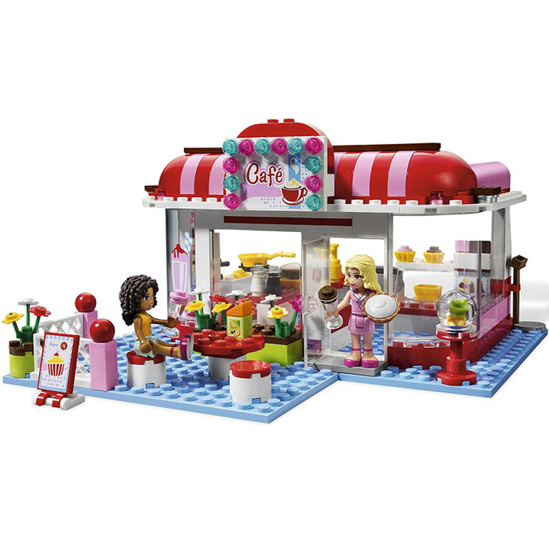 BELA 10162 221pcs Andrea Marie City Park Cafe Building Blocks Compatible Friends 3061 for girl 10162 friends city park cafe building blocks bricks toys girl game toys for children house gift compatible with lego gift