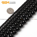 Natural Round Black Tourmaline Beads For Jewelry Making  4-12mm 15inches DIY Jewellery FreeShipping Wholesale Gem-inside