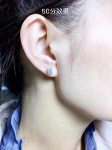 Image 5 - Moissanite ongles à oreilles en argent Sterling 925, recommandation de style populaire, produits de remplacement en diamant à haute dureté