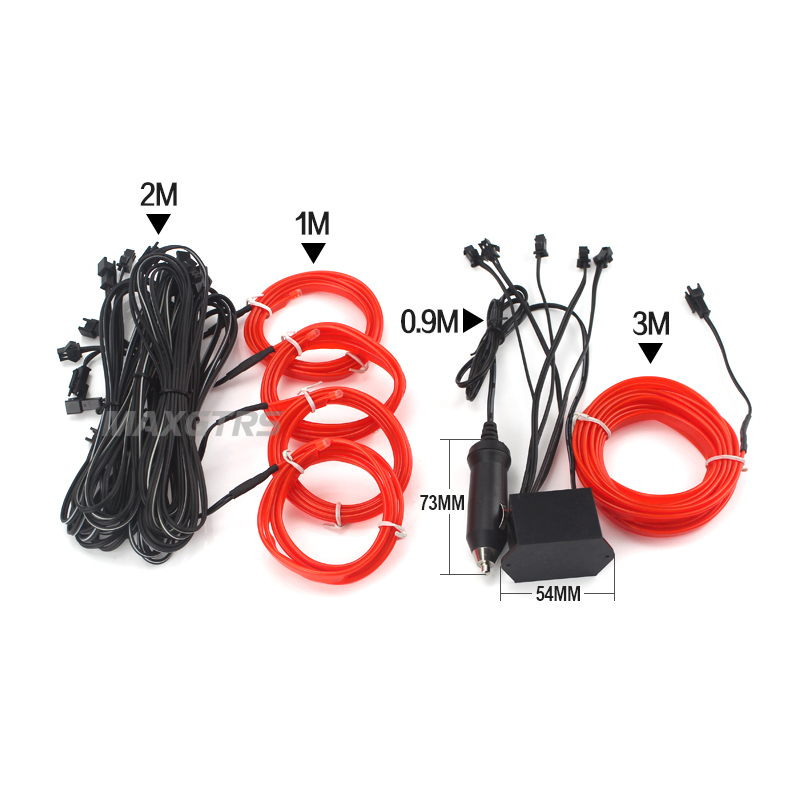 7 Meters Car Led Flexible Neon Cold Interior Atmosphere Light Glow ...