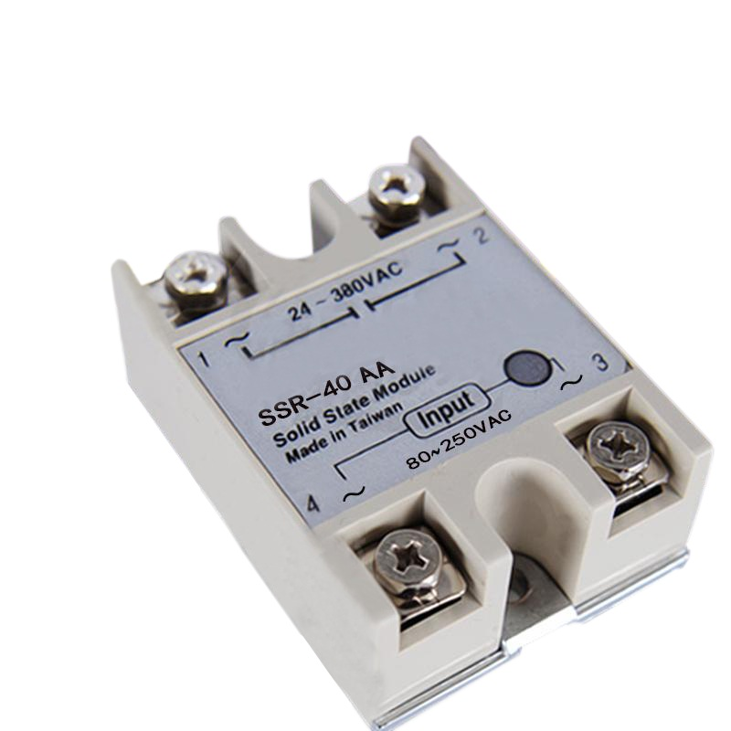40A SSR-40AA Solid State Relay Module AC To AC 24V-380V Output