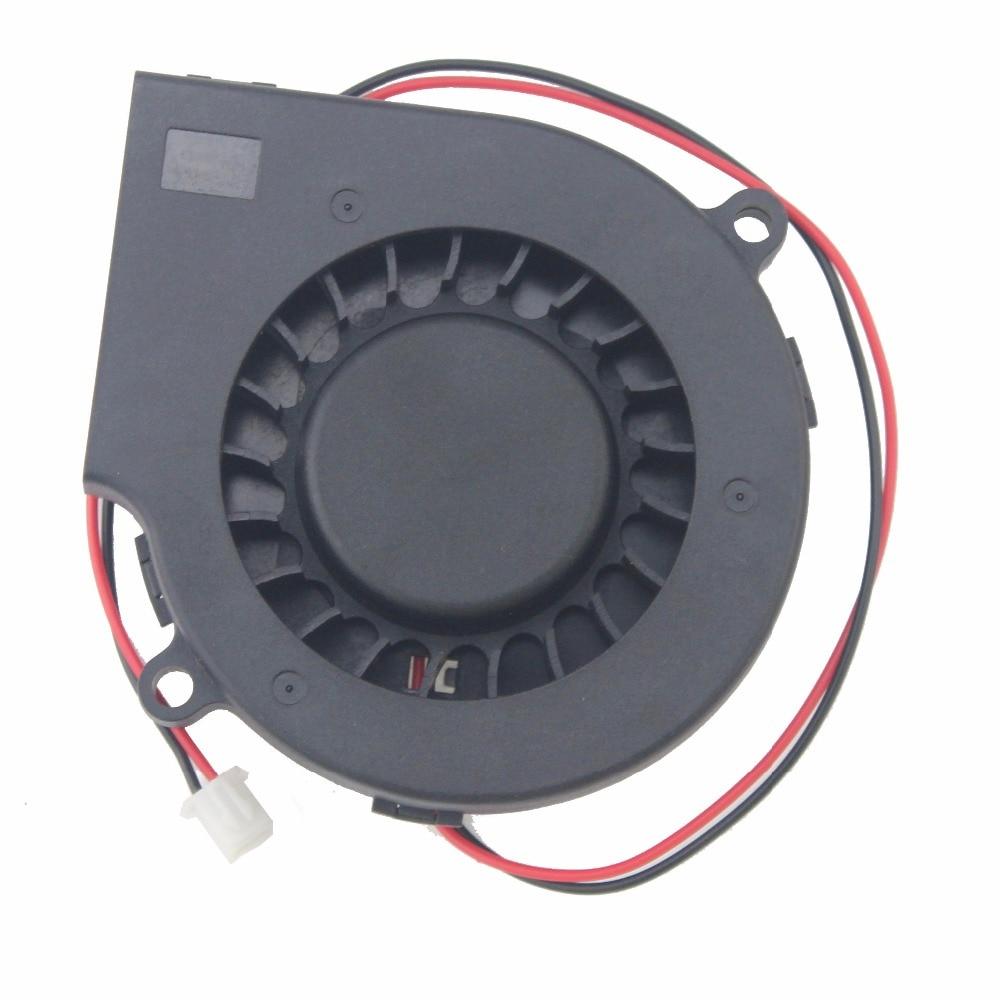 2Pcs Gdstime PC Fan 75mm x 15mm Ball Bearing 7515 DC Brushless Machine Equitment Cooling Exhaust Blower Fan 12V CPU Cooler