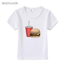 Summer Kids T Shirt Hamburger Boys Girls Short Sleeve T Shirts For Children Baby Girls Clothes Toddler Boy Tees