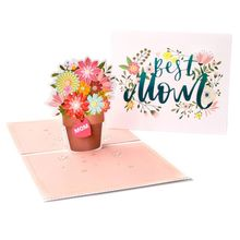 3D Pop Up Paper Creative Flowers Greeting Card For Mothers Teachers Day Wife Festival Gift