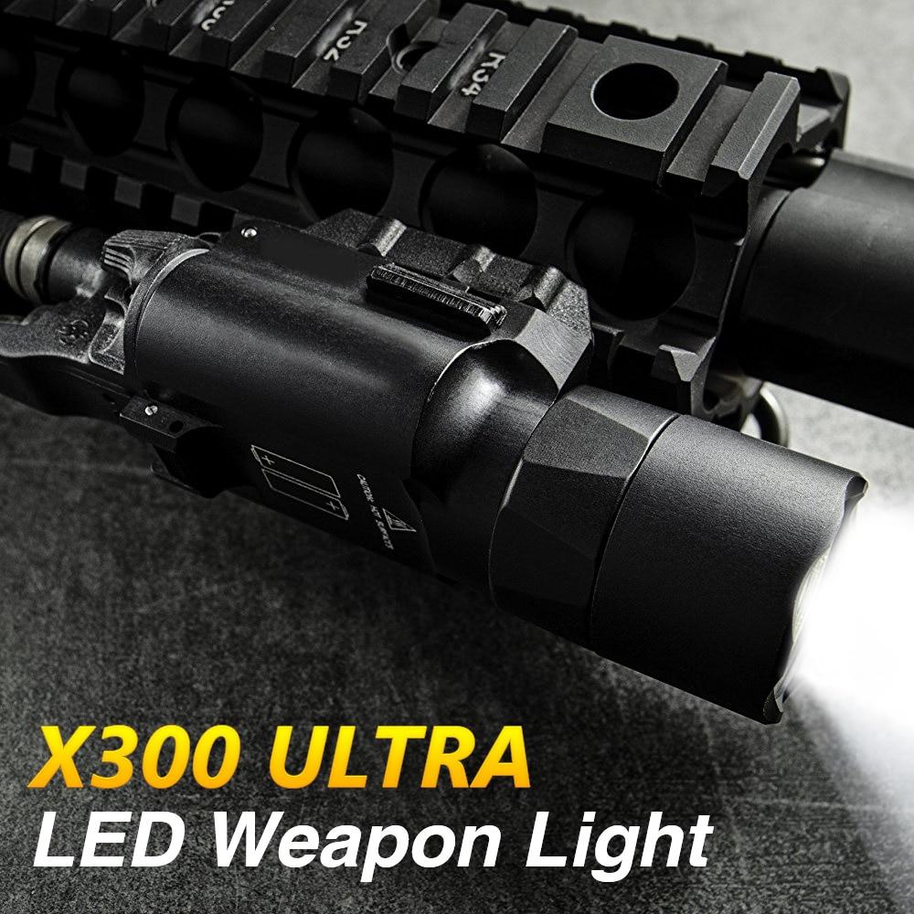 500 Lumens Tactical Gun Light X300 Ultra Weapon Light Led Flashlight Fit Picatinny Weaver Rail Pistol