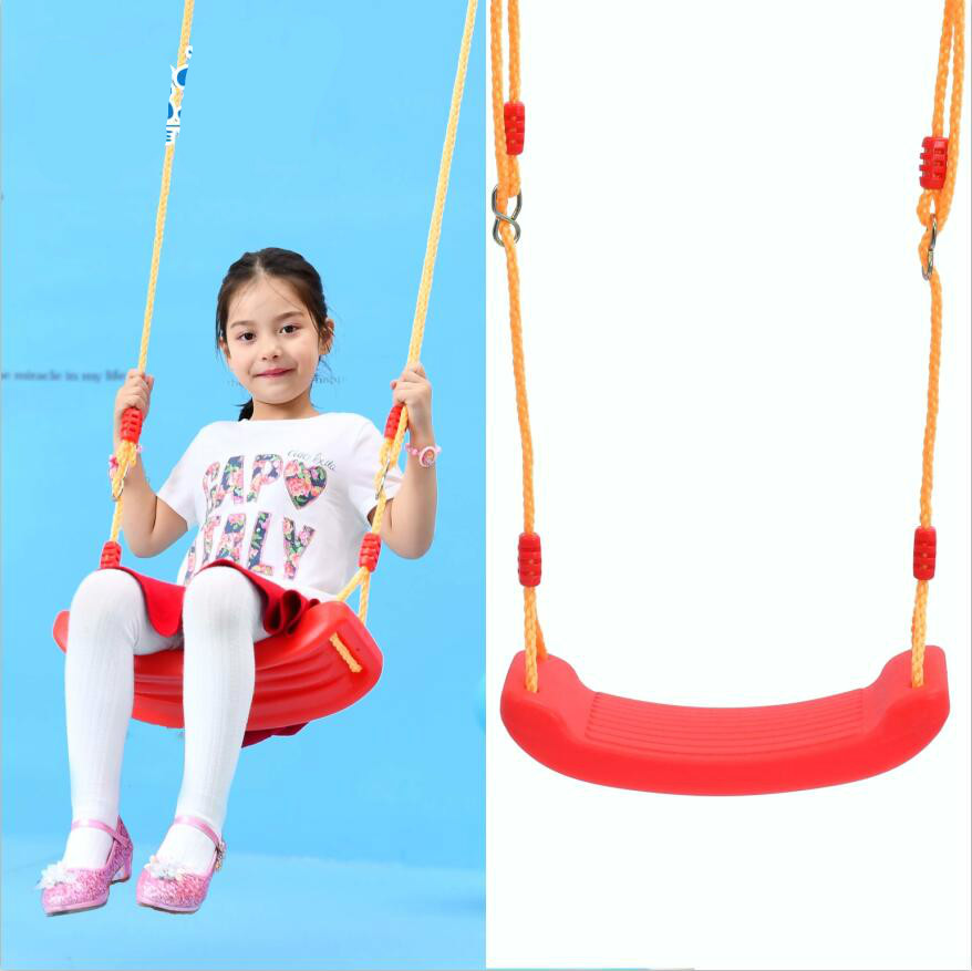 High quality indoor and outdoor children swing  big bending plank swing seat strong child hammock chair 6 colors optional  цена и фото