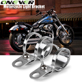 Aluminum Motorcycle Turn Signals Relocation Clamps Mount Light Holder Lamp Mount Bracket For 30-37MM Front Fork