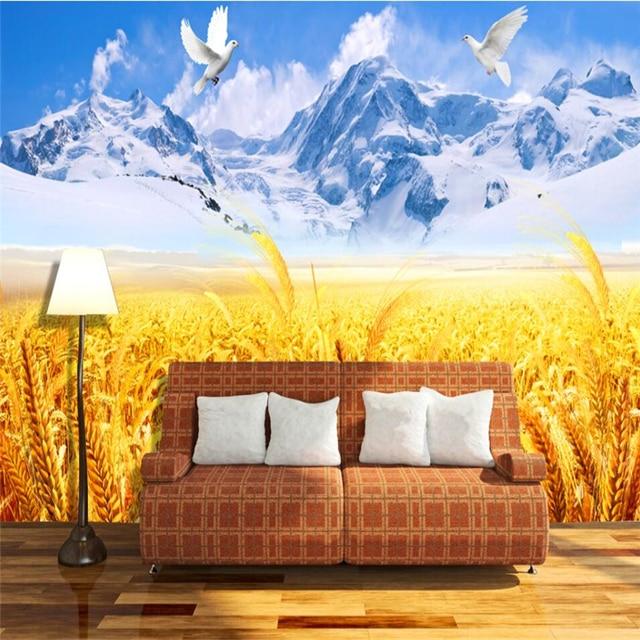 Beibehang Campo Di Grano Montagne Innevate Ad Alta Definizione Tv