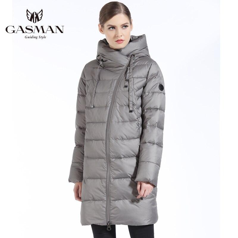 GASMAN 2019 Neue Frauen Winter Jacke Mantel Casual Winter Stepp Mantel Lange Stil Kapuze Schlank Parkas Verdicken Oberbekleidung Mantel Plus größe - 3