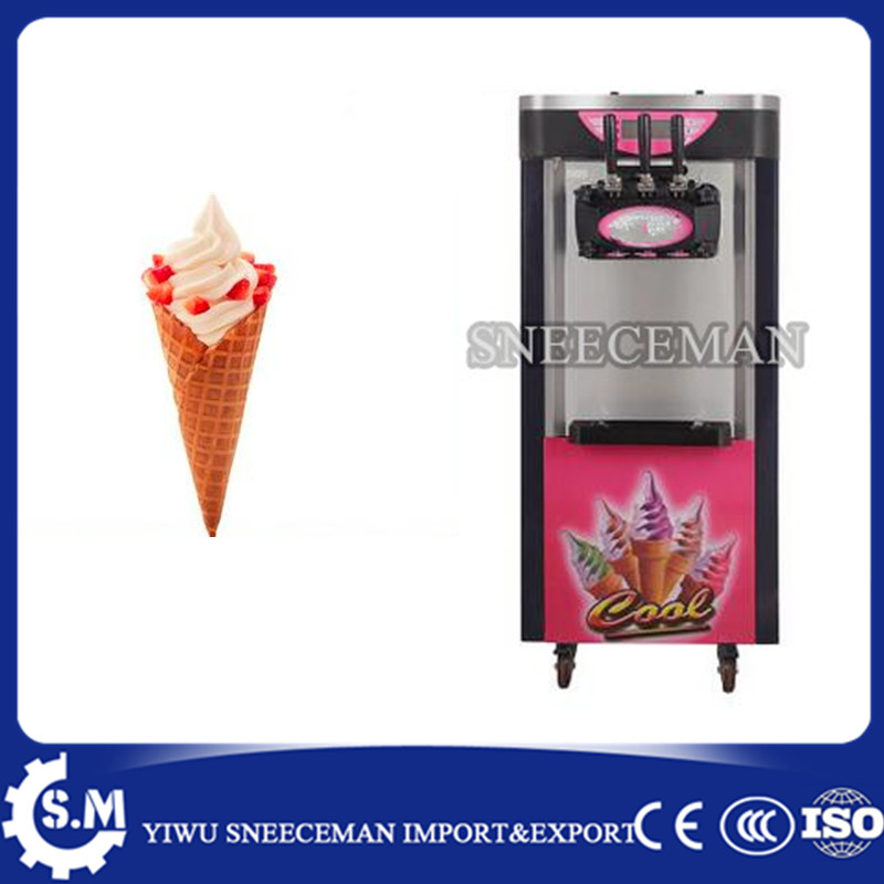 18 20L/H Shower Auto Clean System 3 Flavors Ice Cream machine Maker commercial soft ice cream making vending machine|cream machine|ice cream machine|ice cream machine maker - title=