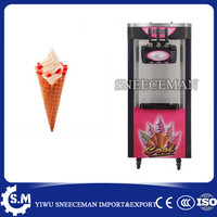 18 20L/H Shower Auto Clean System 3 Flavors Ice Cream machine Maker commercial soft ice cream making vending machine