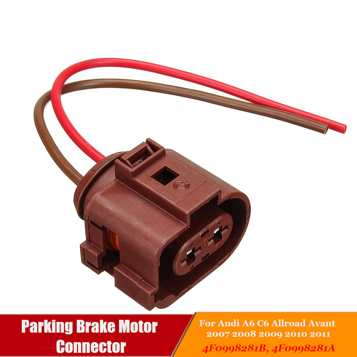 small resolution of 4f0998281b car parking brake motor wiring harness connector for audi a6 c6 allroad avant 2007
