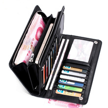 Free Shipping ! Fahison Mens Wallet Long Purse Zipper Clutch Wallet Phone Wallet Rfid Card Holder Wallet Organizer