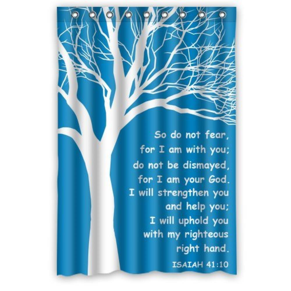 Custom Christian Theme Isaiah Waterproof Window Curtain Home Decoration Curtains 52 x 63 Inch-1 piece Standard Size