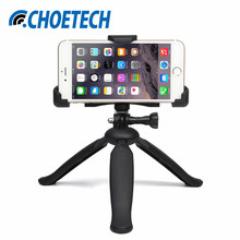 CHOETECH 2-in-1 Universal Camera Phone Mobile Tripod Stand Holder Bracket Selfie Stick for Samsung iPhone Apple HTC Google GoPro
