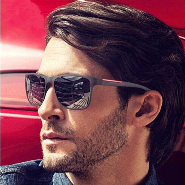 e437f73c3 2019 Design Da Marca Espelho Óculos de Proteção UV Óculos De Sol Dos Homens  de Condução