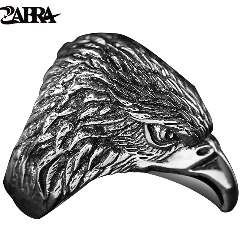 Vintage Style 925 Sterling Silver Eagle Finger Ring For Men Fine Jewellery Rock Punk Gothic Bague Argent Fashion Bar Trendsetter 925 sterling silver bracelets for men skull bracelet vintage punk rock gothic bague fashion men cool exaggerated fine jewelry