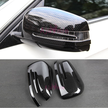 Accessories For Mercedes Benz GLE 2012-2017 Coupe Carbon Fiber Color Door Mirror Overlay Cover Chrome Car Styling