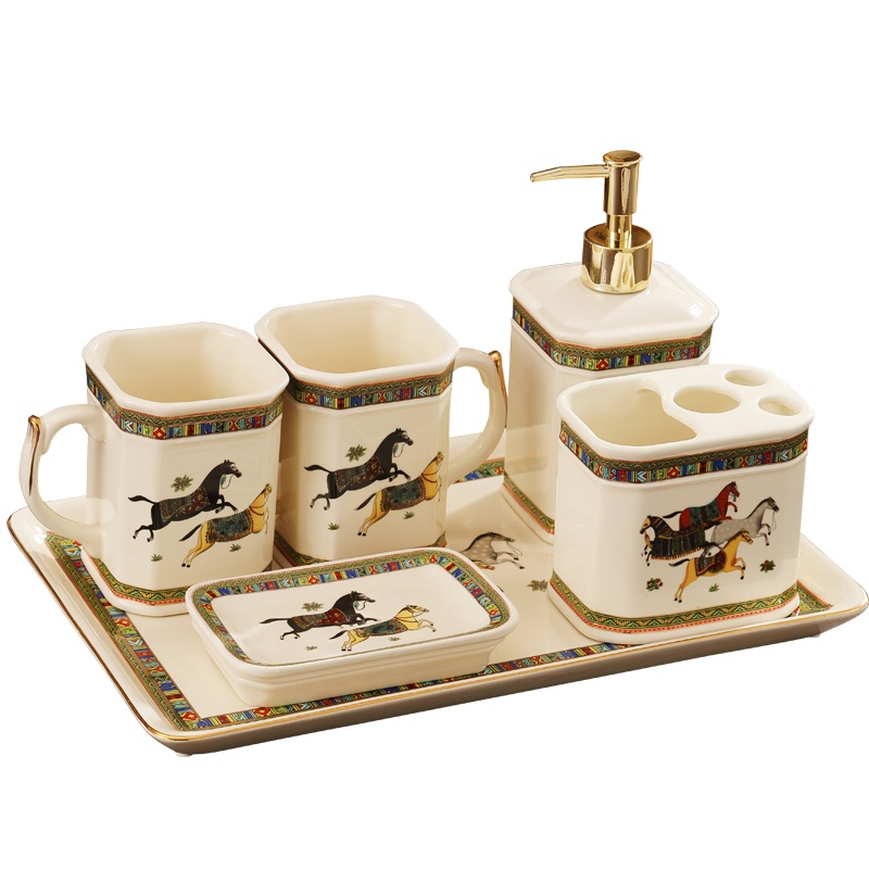 Us 92 86 10 Off Seife Dispenser Set Zahnburste Tasse Seife Schussel Wasser Tassen Bad Set Keramik Zubehor Bad Set Bad Lieferungen In Badezimmer