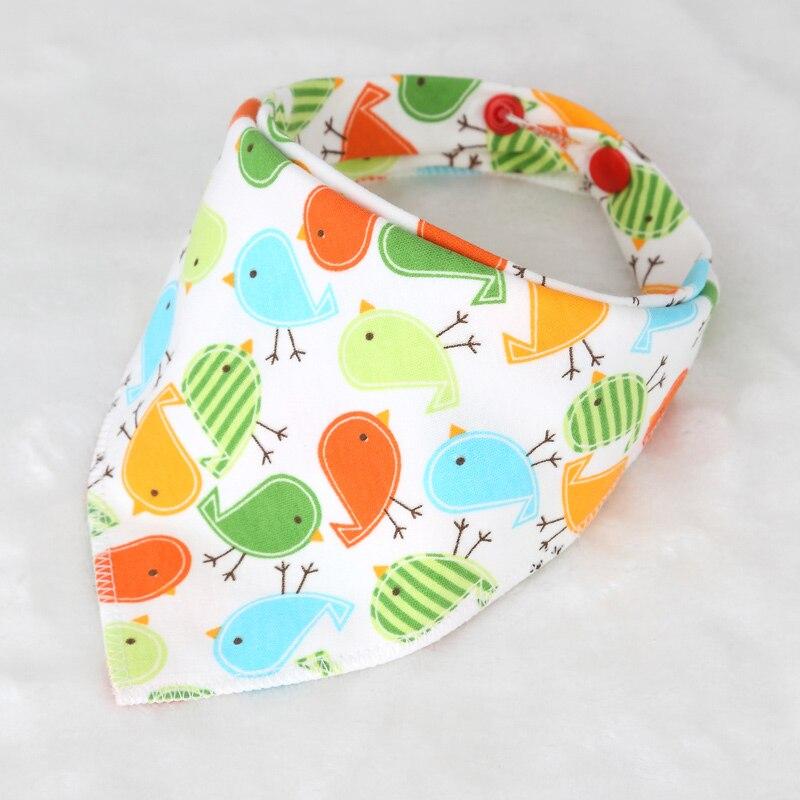 Cartoon Baby bibs waterproof triangle Cotton boy girl Child Baberos bibs babador dribble bibs Newborn slabber Absorbent cloth